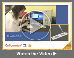 Cellometer X2 Image Cytometer for Yeast, Platelets and Other Small Cells