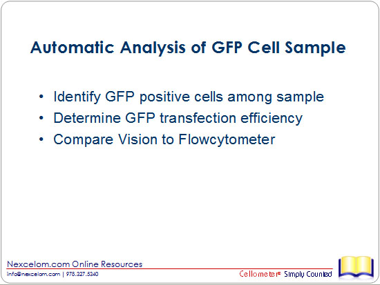 Automatic Analysis of GFP Cell Sample