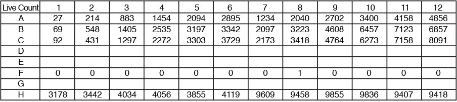 cell counts per well exported to excel file