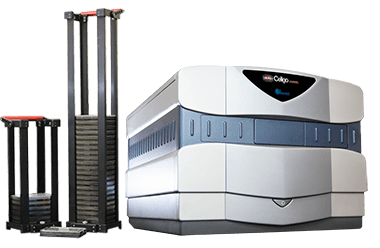 Celigo image cytometer with stacker automation