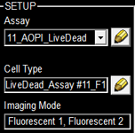 Select assay from a drop down menu