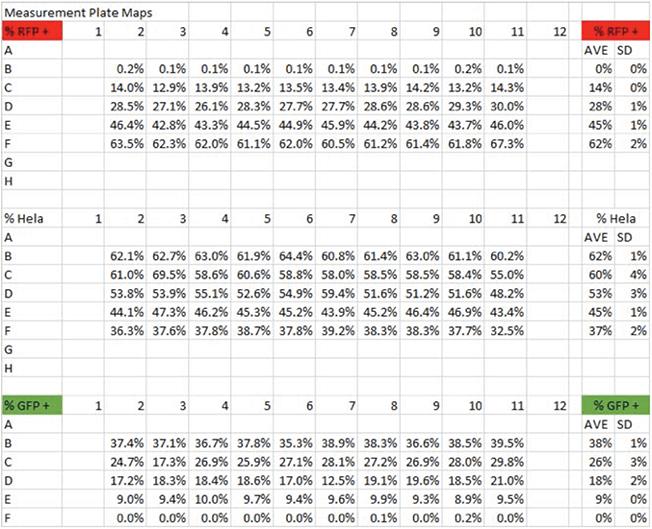 Celigo Excel Results