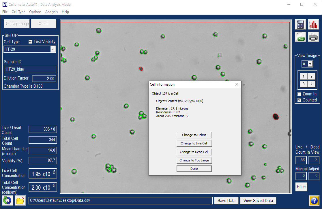 automatic cell-level data