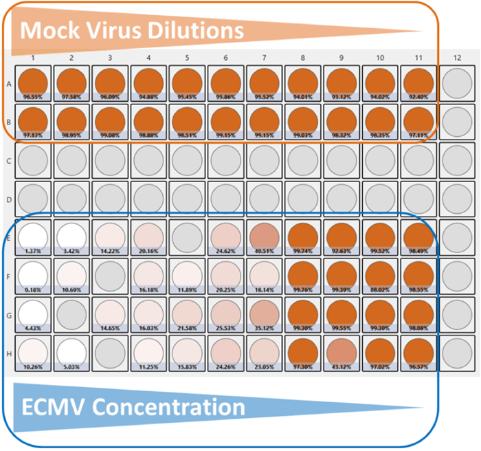 virus dilution heat map