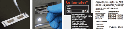 Simple, User-friendly Procedure - pipette load sample for Cellometer K2, cell viability counter