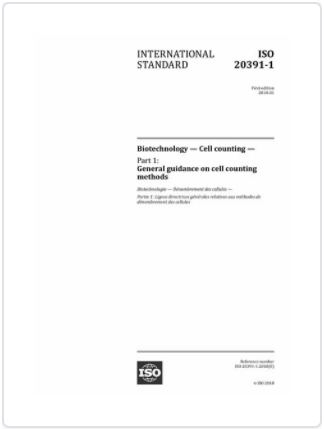 ISO 20391 – 1:2018 Biotechnology – Cell Counting – Part I
