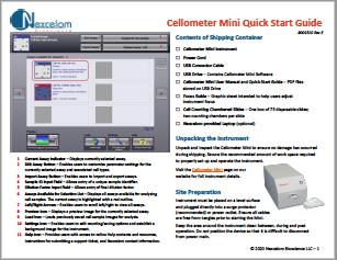Cellometer Mini Quick Start Guide